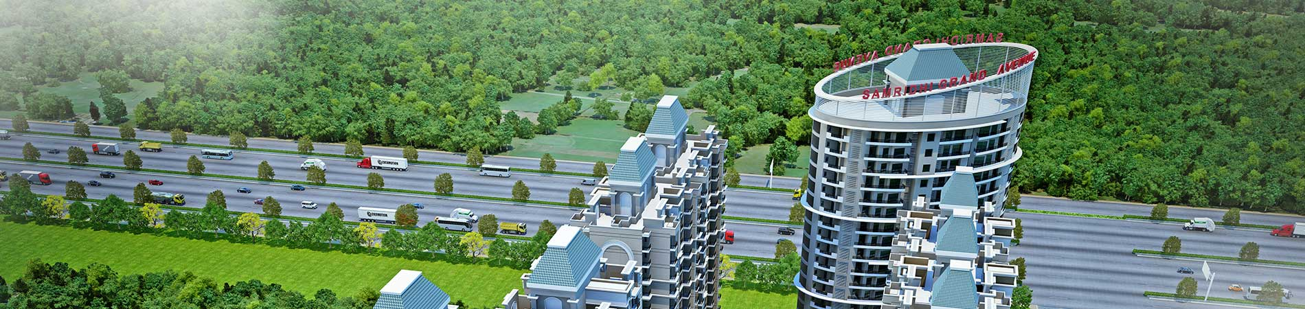 2 bhk, 3 bhk flats in greater noida west - samridhi grand avenue