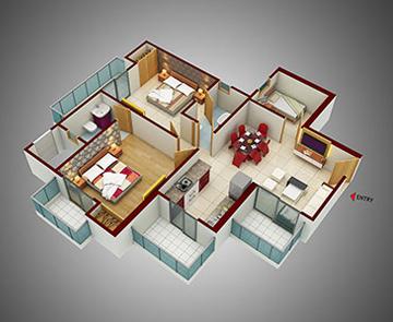 2 Bhk 3 Bhk Apartments In Noida 150 Samridhi Luxuriya Avenue