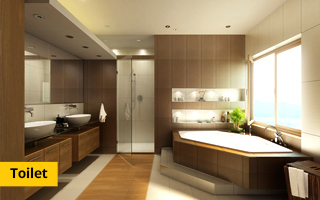 Toilets - 2 BHK flats in Greater Noida west Samridhi Grand Avenue
